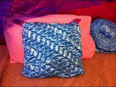 Easy designer cushion/DIY/Canadian smocked leaves pattern
