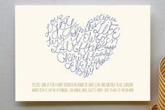 Written on Her Heart Baby Shower Invitations by homeseed paper at minted.com
