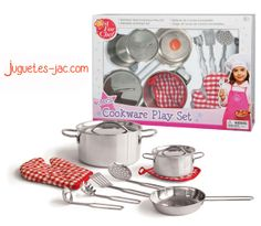 Menaje de aluminio y cer mica de juguete on pinterest for Enseres para cocina