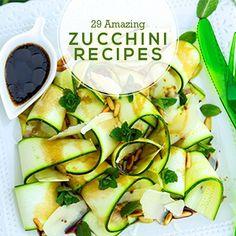 29 Amazing Zucchini Recipes for Summer!  #zucchinirecipes #zucchini #cleaneatingrecipes