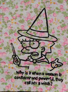Lisa Simpson witch patch large by PosiThreads on Etsy, $4.00