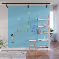 Buy San Francisco Skyline Kite Wall Mural by keindesign. Worldwide shipping available at Society6.com. Just one of millions of high quality products available. Nursery Decor, Wall Decor, Fabric Panels, Kite, Second Floor, Travel Posters, Wall Murals, San Francisco Skyline, Vibrant Colors