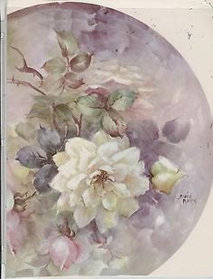 Large Open Rose #54 by Sonie Ames China Painting Study 1972