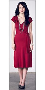 Burnt Red Kristy Wrap Dress by The Purple Rose! Gorgeous colour also available in Pink. Perfect for Breastfeeding mothers as the dress wraps around the breast. Also found at www.thepurplerose.com.au.....