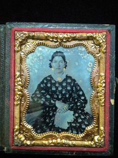 Ambrotype Daguerreotype of Young Woman with Gold Highlights | eBay