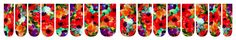 ' Watercolor Poppies' nail wrap design by RenaissanceDesigns