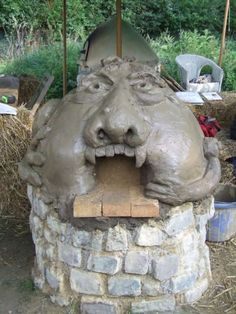 Monster oven built by cobbers on our 1 day pizza oven course here at White Cottage