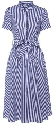 Striped Cotton Shirt Dress-Calvin Klein