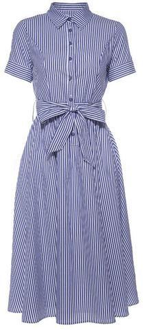 Striped Cotton Shirt Dress-Calvin Klein