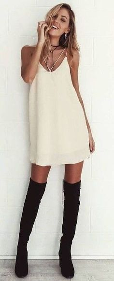 #summer #hot #weather #outfitideas    Neutral Slip Dress