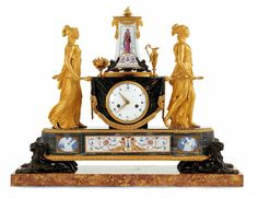 Marie Antoinette 1788 Clock in the Tulliers Palace in Palace Antique Pendulum Wall Clock, Antique Mantle Clock, Antique Wall Clocks, Mantel Clocks, Old Clocks, Manufacture De Sevres, Sculpture Art, Sculptures, Saint Cloud
