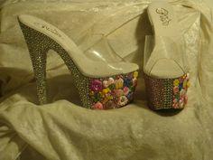 BLING BLING Candy Girl handmade platform exotic dancer stripper gogo d   jazznitup - Clothing on ArtFire