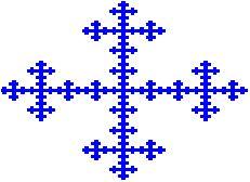 El fractal de Vicsek tiene dimensión de semejanza aprox. 1.464973520 Investing, Fractals