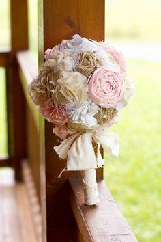 Shabby Chic Rustic Romance Bouquet