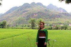 Profitez de la magnifique vue, donnant sur les rizières, qu'offre la maison de monsieur Hanh.