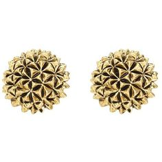 House of Harlow 1960 Mini Crater Stud Earrings ($45) ❤ liked on Polyvore featuring jewelry, earrings, accessories, gold, house of harlow 1960 jewelry, earrings jewelry, house of harlow 1960 and stud earrings