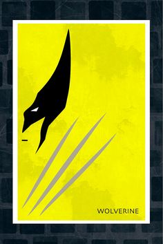 loves...Minimalist XMEN Art Poster of Wolverine 11x17 by adesigngeek, $13.99
