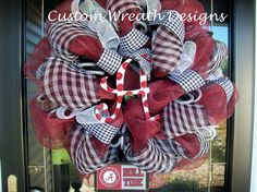 Deco Mesh Alabama Fan Wreath by lilmaddydesigns on Etsy,