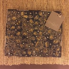 Anthropologie sequin clutch Nwt sequin pouch, beautifully beaded with a zipper closure. Sold out! Anthropologie Bags Clutches & Wristlets