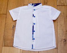 Levana - Camisa Estampado Azul | Pumpkin.Cat Kids Fashion Boy, Girl Fashion, Moda Junior, Toddler Girl Style, Boys Wear, Boys Shirts, Boy Outfits, Casual Shirts, Manish