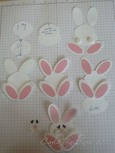 Stampin Up Punches | Stampin' Up! Bunny Punch Art by Carla Scraps | Punches & punch cards
