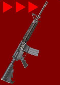 Armas, Rifle, M16, Guerra, Paz