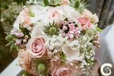 Elegant pale pink and white wedding bouquet