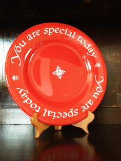 Start A Birthday Tradition: The You Are Special plate has been a birthday tradition in our family since I was a kid!