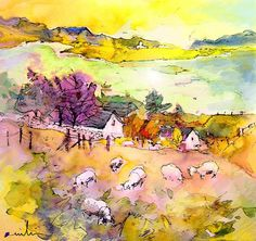 Scotland 20. Artist:Miki De Goodaboom. Medium:Painting - Mixed Technique
