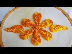Hand Embroidery Design Hand Embroidery: Flowers with Cord flower Stitch - Hand Embroidery Videos, Tambour Embroidery, Hand Embroidery Flowers, Hand Embroidery Tutorial, Hand Work Embroidery, Types Of Embroidery, Hand Embroidery Stitches, Hand Embroidery Patterns, Embroidery Techniques