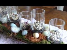 See how to create a lovely centerpiece for your Spring-time dining room table.