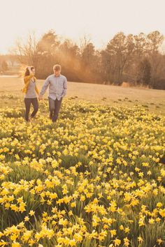 Bloomin' Beautiful: 22 Spring Engagement Photo Ideas via Brit + Co.