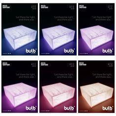 byzon ® bulb lamp made in ecosense resin/ RGB / Dimmer controlled intensity #dontlikeitloveit #ecosense #ecosensebysinktal @ecosensepanels