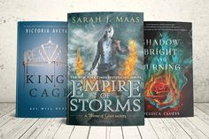 Love YA fantasyand counting down the day for these precious books? So am I =) Enter and you could winnot one, not two, but all THREE (3!!!) booksin your preferred format (hardcover/ebook). Open US-only.   1.Empire of Stormsby Sarah J. Maas 2.King's Cageby Victoria Aveyard 3.A Shadow Bright and Burningby Jessica Cluess ~*~May the Book Force Be With You~*~