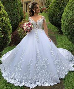 White Wedding Gowns, Cheap Wedding Dress, Boho Wedding Dress, Dream Wedding Dresses, Boho Dress, Bridal Dresses, Modest Wedding, Tulle Wedding, Gown Wedding