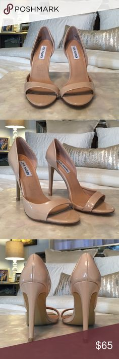 Steve Madden Nude Heels Patent Leather. Bought from another posher but they are too small for me Steve Madden Shoes Heels
