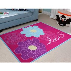 Easy Kids Petal Border Rug In Multi Features Range Colour Material Nylon Construction Printed Product Type Area Rugs Style And