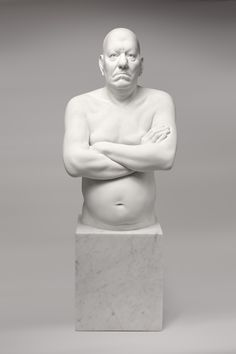 'The Emperor's New Clothes' Jesmonite on marble base for bronze ed. 9