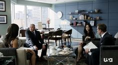 Harvey, Jessica, Scottie and Darby - Suits S02E15
