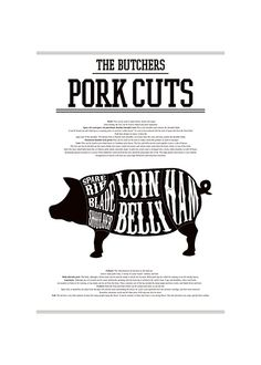 Juliste, Butcher chart, porsas.