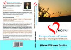 """Portada de libro """"Recetas para Sanar tu Corazon: Principios simples para vivir la vida"""
