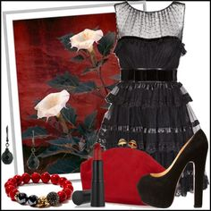 """Red Jade"" by jacque-reid ❤ liked on Polyvore"