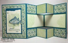 Stamp With Sandy: Father's Day Shutter Card using Stampin' Up's By The Tide Stamp Set and Venetian Romance DSP