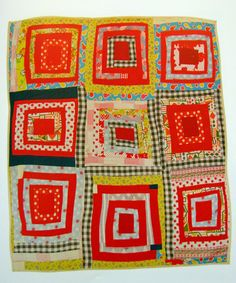 "Gees Bend Quilt: Arlonzia Pettway, ""Housetop"" nine-block variation, 1982, 87x80 inches. From the book ""Gee's Bend: The Women and Their Quilts,"" Tinwood Books 2002"