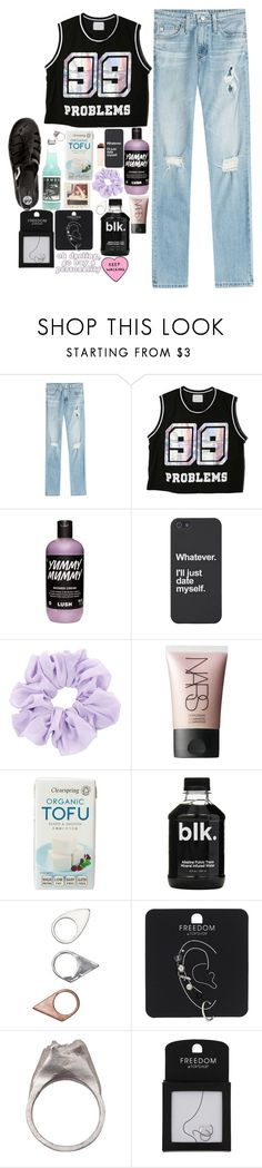 """""""Taylor Swift is my 100th Problem."""" by the-abby ❤ liked on Polyvore featuring AG Adriano Goldschmied, Chicnova Fashion, NARS Cosmetics, Nicki Minaj, Monki, Topshop and RP/Encore"""