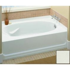 """Sterling 71111122-0 Ensemble 60"""" AFD Bathtub with Right Drain"""