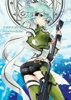 Nice anime image from Sword Art Online II uploaded by sanada - Shino Asada Sword Art Online, Sinon Ggo, Kirito Asuna, Kunst Online, Online Art, Shino Sao, Tous Les Anime, Asada Shino, Fantasy Anime