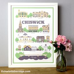 Charlotte Berridge creates gorgeous prints based on local landmarks, adorning tea towels, cards and more.