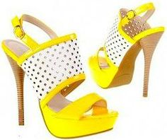 Yellow Retro Style Sandal Shoes Yellow Shoes, Mellow Yellow, Retro Fashion, Peeps, Peep Toe, Shoes Sandals, Wedges, Retro Style, Women
