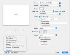 Fie că alegeți să imprimați prezentarea PowerPoint sau să o salvați PDF pentru a fi urcată pe web, alegerile sunt similare, așa că le vom discuta împreună. Poker, Bar Chart, Computers, Bar Graphs
